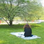 洋画専攻絵画コース1年 校内および公園の取材から