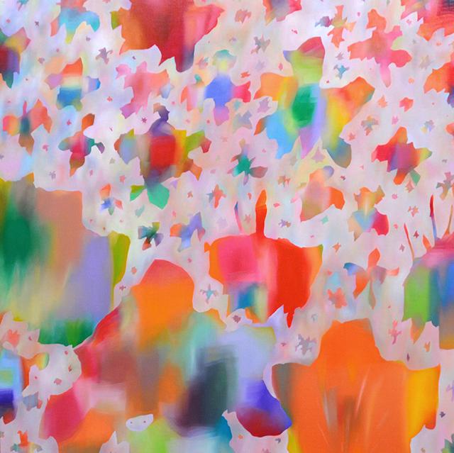 2015  赤花 91×91㎝ 油彩・キャンバス