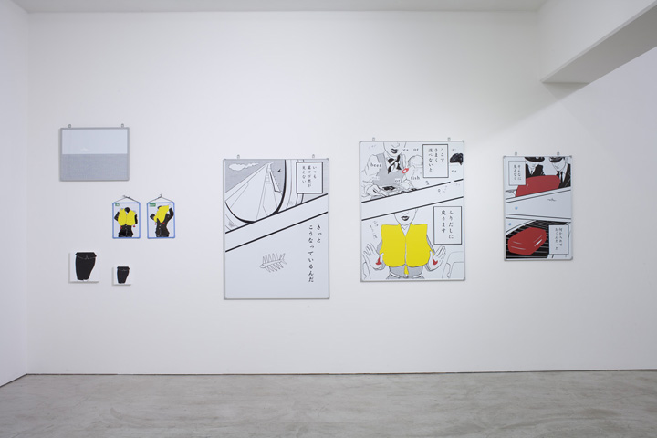 個展「BOARDING」会場風景 山本現代 2013年