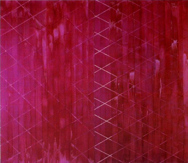 <紫鉱石>1986年、245×280㎝、油彩・画布、セゾン現代美術館蔵