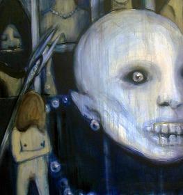 《真夜中》 2010、キャンバス、油彩