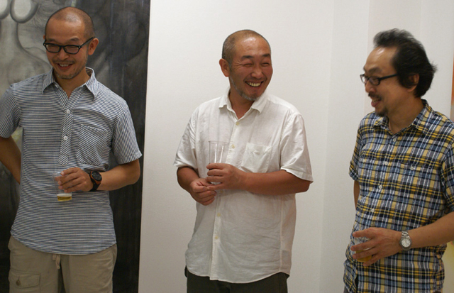 左から、袴田京太郎 先生(ムサビ)、近藤昌美 先生(東京造形)、中村一美 先生(女子美)