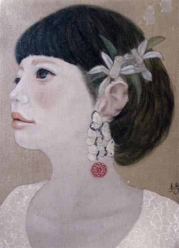 菅野静香「少女」33.4×24.3cm キャンバスに油彩 2011 Kanno Shizuka「Girl」33.4×24.3cm oil on canvas 2011