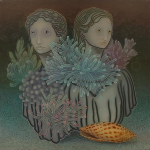参考画像:「ソレデモソバニイルトイウコト」 2012年 oil on canvas 116.7 x 116.7cm