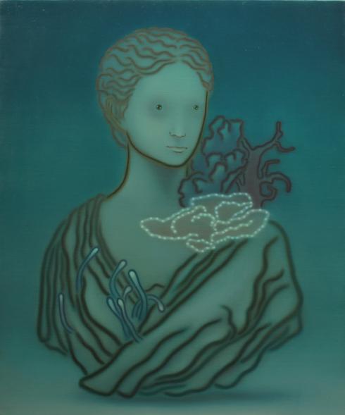 参考画像:「ソレデモソバニイルトイウコト」 2011年 oil on canvas 72.7 x 60.6cm