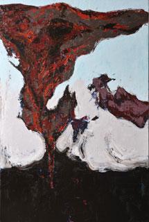 菊池まり子|眠る痛覚| oil painting/ 1,940 x 1,303 mm