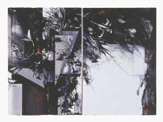 秋澄む音 91×127cm リトグラフ 1992