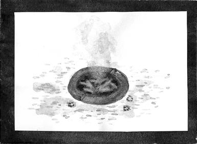 主人公のおじいちゃんのもくもく灰皿です。 おじいちゃんは、ボケがはじまってしまったみたいで、危険です。