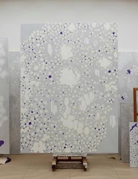 《擦れ違い/S字型還元》 2012年 油彩、カンヴァス 259.0×194.0cm 個人蔵 撮影:渡邉 修