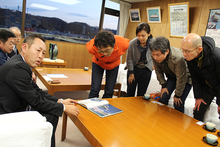 宮古市役所にて、山口公正副市長、佐々木勝利様、山本克明様に お話を伺いました。