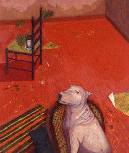 赤い部屋(犬がいる)