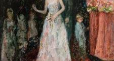 後藤夢乃 「私たちはどこへ向かうのか -A ghost wedding-」 木製パネル、油彩 H212×W181cm