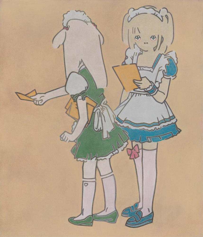 角谷佳奈 「Sweet Dreams」 パステル、画用紙、木製パネル 25.7×18.2cm