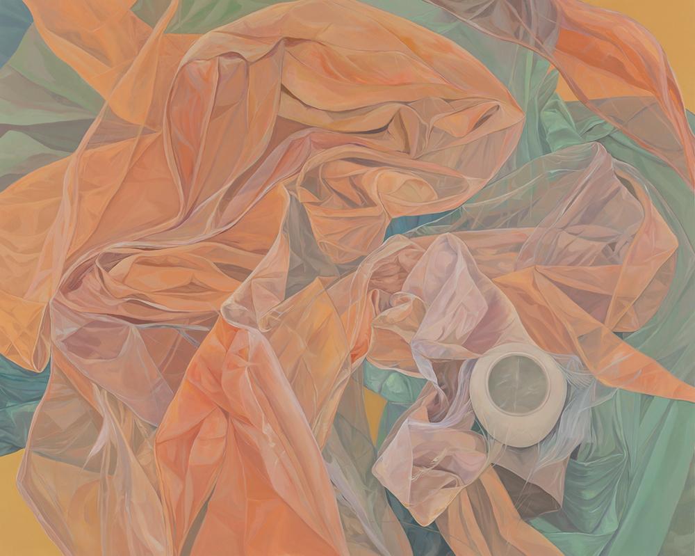 酒井紫帆 「あなたに贈る言葉を探してる」 油彩、キャンバス 181.8×227.3× cm