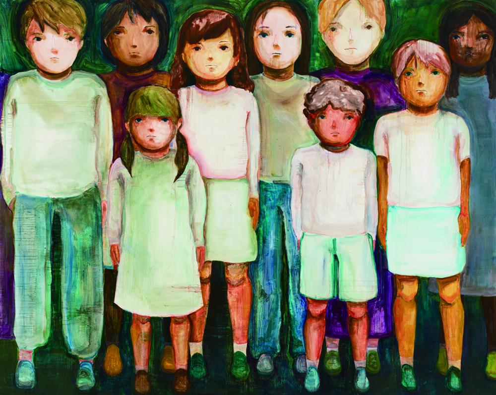 村野 万奈 「子どもたち」 油彩、キャンバス 181.8×227.3cm  撮影 末正真礼生