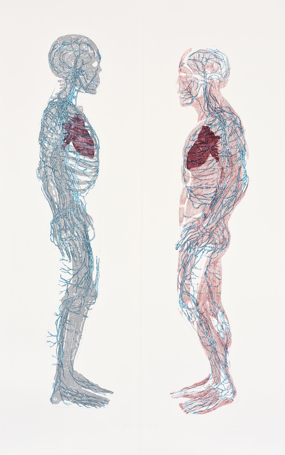 小泉 百合子 「終わりのない対話」 コラグラフ 140×75cm  撮影 川上弘美写真スタジオ