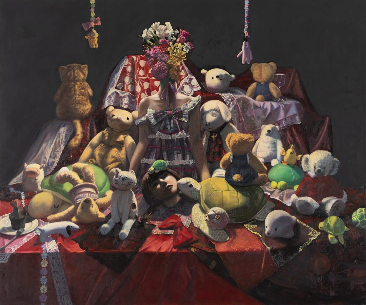 小林 柚乃「愛棺'と暗い.遺体。」キャンバス・油彩 194×162cm 撮影 末正真礼生